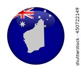 western australia map button on ... | Shutterstock . vector #450722149