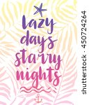 lazy days hand drawn... | Shutterstock .eps vector #450724264