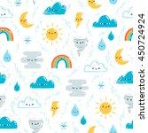 fun weather illustration vector ... | Shutterstock .eps vector #450724924