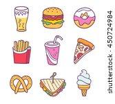 fast food illustration vector...   Shutterstock .eps vector #450724984