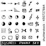 business doodles sketch vector... | Shutterstock .eps vector #450727864