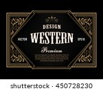 western label antique frame... | Shutterstock .eps vector #450728230