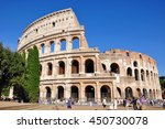 rome  italy  july 9  2016 ... | Shutterstock . vector #450730078