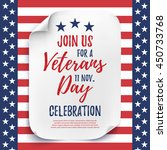 veterans day party celebration... | Shutterstock .eps vector #450733768