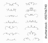 set of hand drawn borders made... | Shutterstock .eps vector #450746740