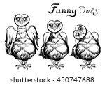 illustration of an owls.... | Shutterstock .eps vector #450747688