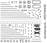set of hand drawn elements for... | Shutterstock .eps vector #450749440
