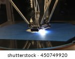 detail of 3d printer printing a ... | Shutterstock . vector #450749920