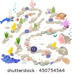 maze game for children with... | Shutterstock .eps vector #450754564