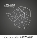 zimbabwe black contour map   Shutterstock .eps vector #450756406