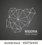 nigeria black vector map of... | Shutterstock .eps vector #450756454