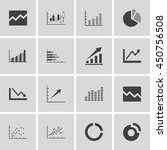 graph chart icons set. vector... | Shutterstock .eps vector #450756508