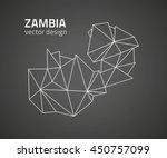 zambia vector polygonal outline ... | Shutterstock .eps vector #450757099
