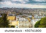 paris. montmartre view from the ... | Shutterstock . vector #450761800