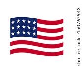 coloured usa flag. vector... | Shutterstock .eps vector #450762943