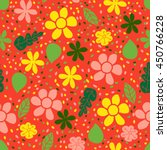 seamless floral pattern. simple ...   Shutterstock .eps vector #450766228