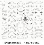 big set of 50 hand drawn black... | Shutterstock .eps vector #450769453
