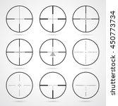 vector crosshairs set. target... | Shutterstock .eps vector #450773734