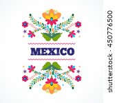 mexican pattern  beautiful... | Shutterstock .eps vector #450776500