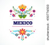 mexican pattern  beautiful... | Shutterstock .eps vector #450776503