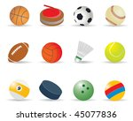sport balls. vector... | Shutterstock .eps vector #45077836