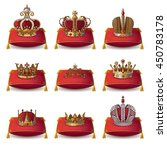 crowns of kings and queen... | Shutterstock .eps vector #450783178