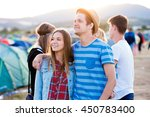 beautiful young couple at... | Shutterstock . vector #450783400