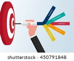 goal setting. smart goal.... | Shutterstock .eps vector #450791848