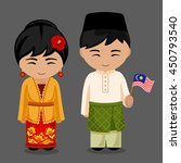 malaysians in national dress... | Shutterstock .eps vector #450793540