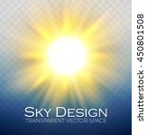 shining sun. transparent vector ... | Shutterstock .eps vector #450801508