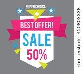 sale banner template. best... | Shutterstock .eps vector #450803338