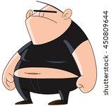 bully man thug gang member with ... | Shutterstock .eps vector #450809644