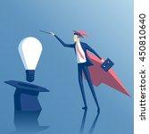 businessman wizard gets idea... | Shutterstock .eps vector #450810640