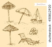 vector linear illustration of... | Shutterstock .eps vector #450812920