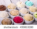 selection of gourmet flavours... | Shutterstock . vector #450813280