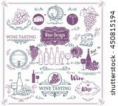 decorative vintage wine icons.... | Shutterstock .eps vector #450815194