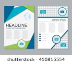 modern two sided professional... | Shutterstock .eps vector #450815554