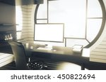 office workplace with dark... | Shutterstock . vector #450822694