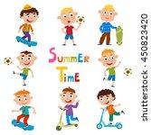 vector set of summer child's... | Shutterstock .eps vector #450823420
