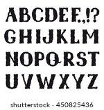 alphabet. grunge shakily line... | Shutterstock .eps vector #450825436