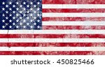the usa flag painted on grunge... | Shutterstock . vector #450825466