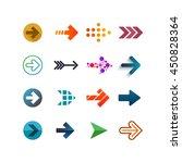 set of different vector arrows. ... | Shutterstock .eps vector #450828364