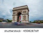 arc de triomphe in paris  france | Shutterstock . vector #450828769