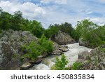 Landscape Of Great Falls Park...