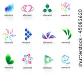 set of different icons | Shutterstock .eps vector #45083620