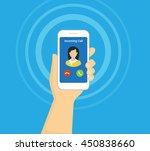 incoming call on smartphone...