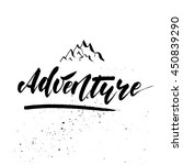 adventure   inspirational... | Shutterstock .eps vector #450839290