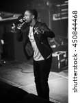 Small photo of Amsterdam, The Netherlands - July, 1 2016: support act with Christopher Martin before the concert of reggae singers Gentleman and Ky-Mani Marley at Melkweg during world music festival Roots Amsterdam