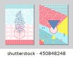 trendy geometric elements... | Shutterstock .eps vector #450848248