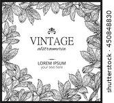 alstroemeria. flower square... | Shutterstock .eps vector #450848830